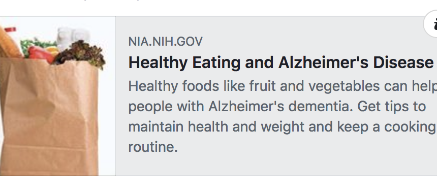 Healthy Eating and Alzheimer's Disease